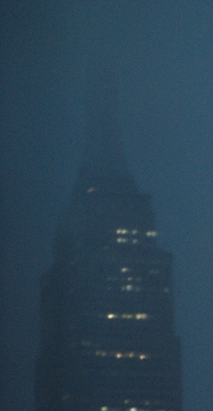 Empire State during thunder and lightning
