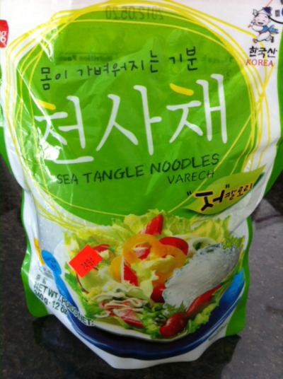 Kelp Noodles from Local Korean Supermarket