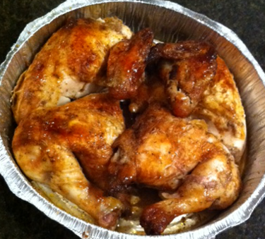 A whole Pio Pio Chicken (rotisserie style)