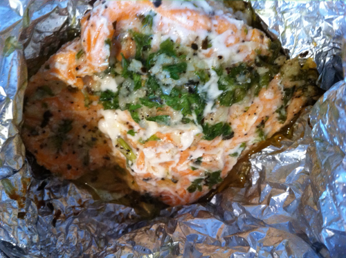 Salmon Bake on Aluminum Foil