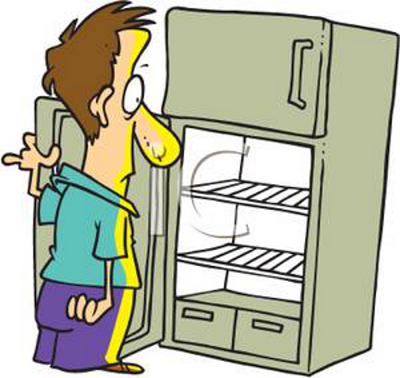 Cartoon Empty Fridge