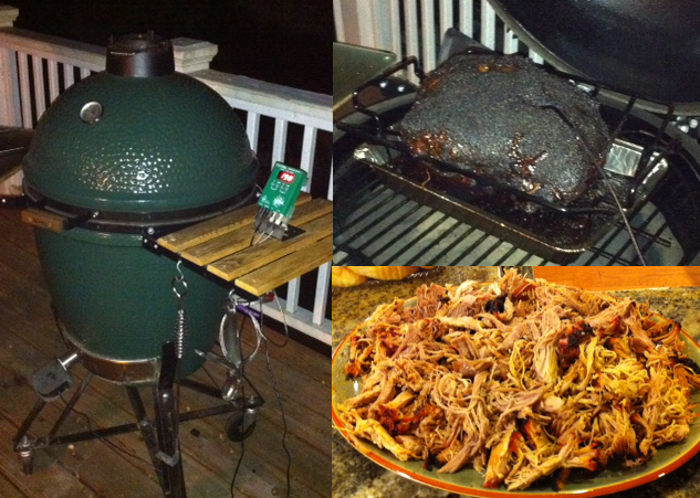 A Green Egg and the Delicious Pulled Pork that Came Out